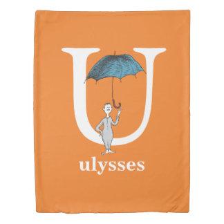 Dr. Seuss's ABC: Letter U - White | Add Your Name Duvet Cover