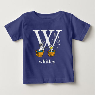 Dr. Seuss's ABC: Letter W - White | Add Your Name Baby T-Shirt