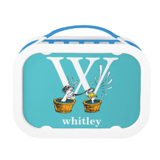 Dr. Seuss's ABC: Letter W - White | Add Your Name Lunch Boxes