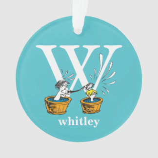 Dr. Seuss's ABC: Letter W - White | Add Your Name Ornament