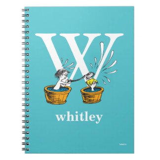 Dr. Seuss's ABC: Letter W - White | Add Your Name Spiral Note Books