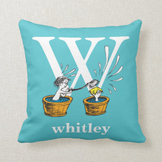 Dr. Seuss's ABC: Letter W - White | Add Your Name Throw Pillow