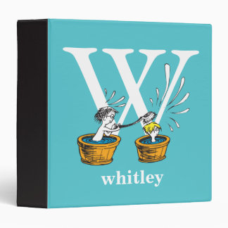Dr. Seuss's ABC: Letter W - White | Add Your Name Vinyl Binders