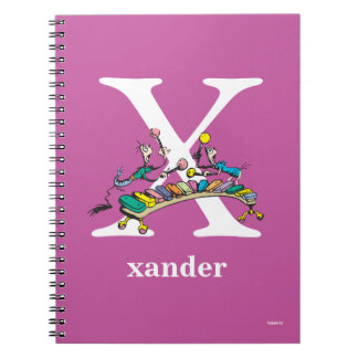 Dr. Seuss's ABC: Letter X - White | Add Your Name Notebooks