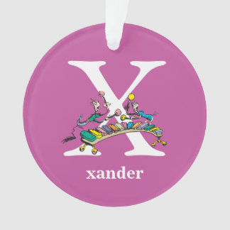 Dr. Seuss's ABC: Letter X - White | Add Your Name Ornament