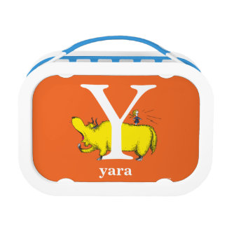 Dr. Seuss's ABC: Letter Y - White | Add Your Name Lunch Box