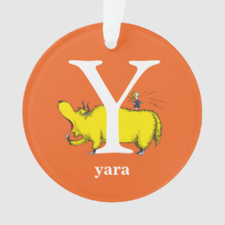 Dr. Seuss's ABC: Letter Y - White | Add Your Name Ornament