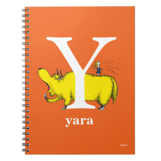 Dr. Seuss's ABC: Letter Y - White | Add Your Name Spiral Notebooks