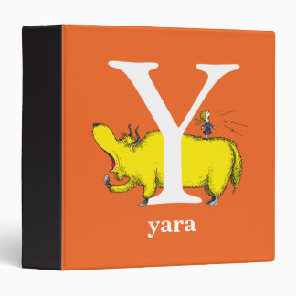 Dr. Seuss's ABC: Letter Y - White | Add Your Name Vinyl Binders