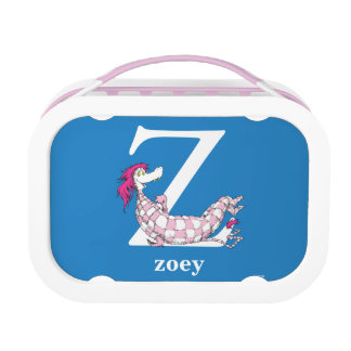 Dr. Seuss's ABC: Letter Z - White | Add Your Name Lunch Boxes