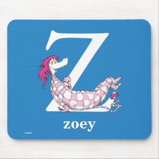 Dr. Seuss's ABC: Letter Z - White   Add Your Name Mouse Pad