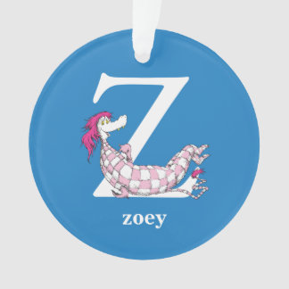 Dr. Seuss's ABC: Letter Z - White | Add Your Name Ornament