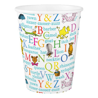 Dr. Seuss's ABC Pattern with Words Paper Cup