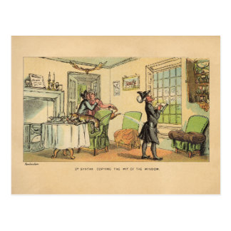 Dr Syntax copying the wit of the window Postcard