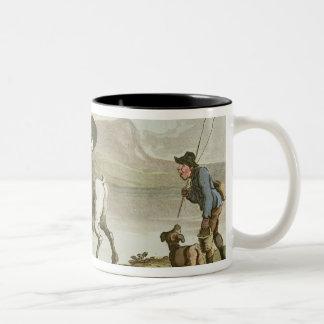 Dr. Syntax sketching the lake Two-Tone Coffee Mug