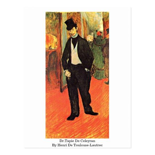 Dr.Tapie De Celeyran By Henri De Toulouse-Lautrec Postcard