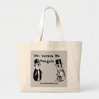 Dr. versus Mr. Penguin Large Tote Bag