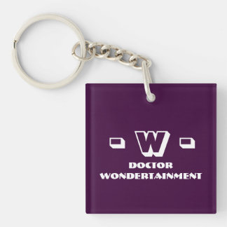 Dr. Wondertainment's Keyholder [SCP Foundation] Double-Sided Square Acrylic Keychain