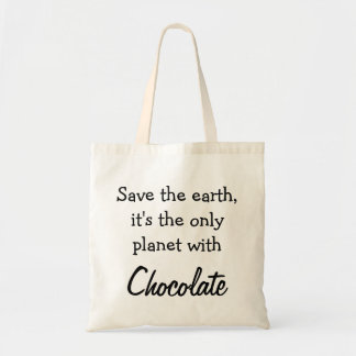 Draagtas satchel quotation chocolate ground tote bag