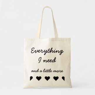Draagtas satchel quotation everything what I have
