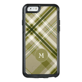 drab olive and beige masculine plaid OtterBox iPhone 6/6s case