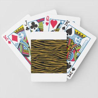 Drab Tiger Bicycle Playing Cards