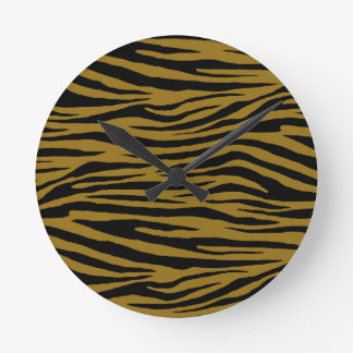 Drab Tiger Wallclocks