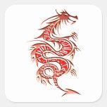 Drache dragon quadratsticker