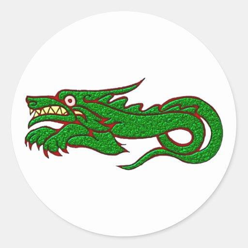 Drache Dragon Round Sticker