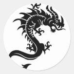 Drache, Dragon Round Sticker
