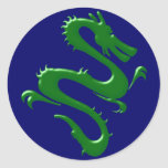 Drache grün green dragon sticker
