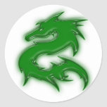 Drache grün stickers
