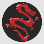 Drache rot red dragon runde sticker