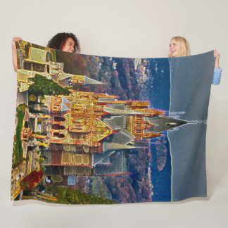 Drachenburg Castle, Germany Acrylic Art Fleece Blanket