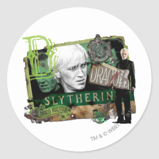 Draco Malfoy Collage 1 Classic Round Sticker
