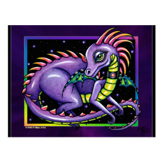 """Draco"" Rainbow Dragon Postcard"