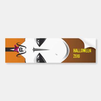 DRACUL HALLOWEEN BATS BUMPER STICKER