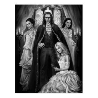 Dracula and his Ladies Postcard