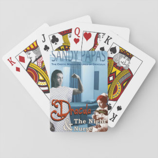 Dracula and the night nurse playing cards