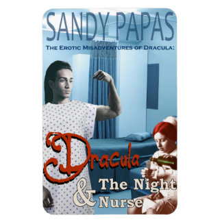 Dracula and the night nurse rectangular photo magnet