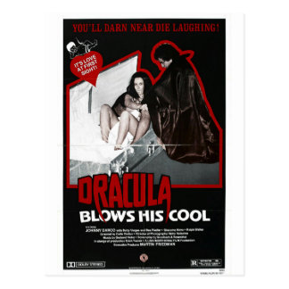DRACULA BLOWS HIS COOL POSTCARD