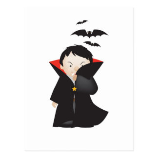 dracula cartoon postcard