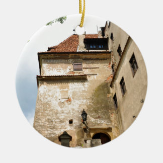Dracula Castle in Bran, Brasov, Transylvania Round Ceramic Ornament