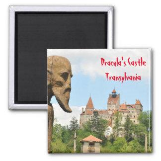 Dracula Castle in Bran, Brasov, Transylvania Square Magnet