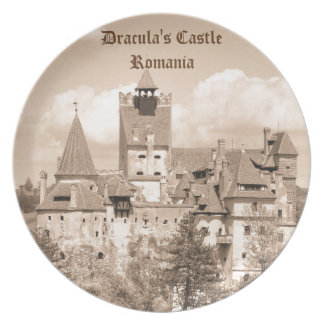 Dracula Castle in Transylvania, Romania Dinner Plates
