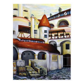 Dracula Castle - Interior Courtyard Postcard