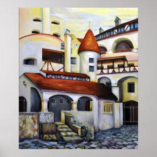 Dracula Castle - Interior Courtyard Poster