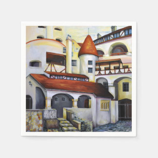 Dracula Castle - the interior courtyard Paper Napkin