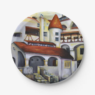 Dracula Castle - the interior courtyard Paper Plate