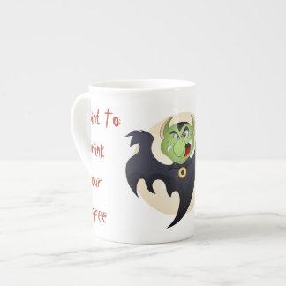 Dracula Drinking Coffee Mug
